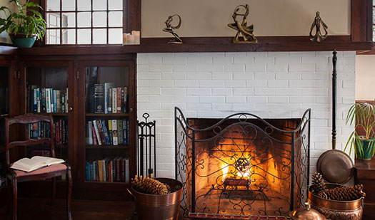 Craftsman Inn fireplace