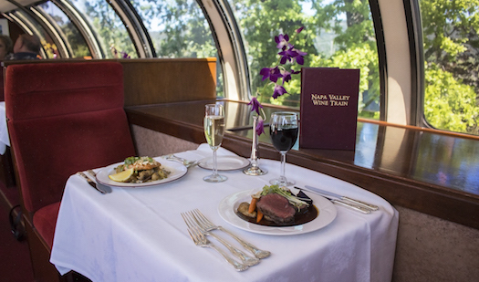 A delicious meal set on the Napa Valley Wine Train
